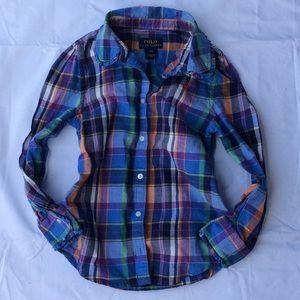 Polo by Ralph Lauren Shirts & Tops - Ralph Lauren | 6x button up plaid ruffles